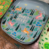 painted sweet heart plate with animals a