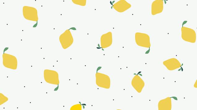 Lemon Poppyseed Girl Wallpaper