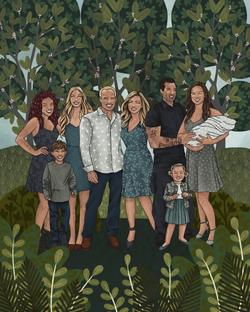 The Makerie Custom Family Illustration M