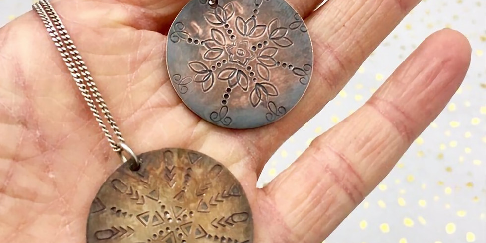 Metal Pendant Stamping with Urban Alchemy