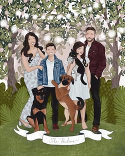The Makerie Custom Family Illustration P
