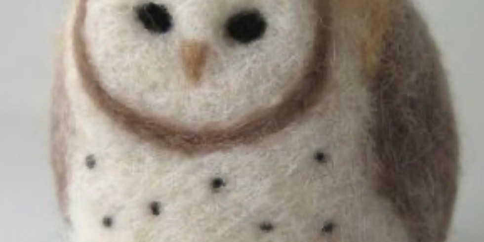 Stab Session: Needle Felted Snowy Owl with Arielle Logan