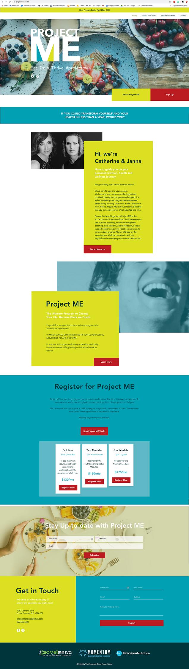 Project Me Website