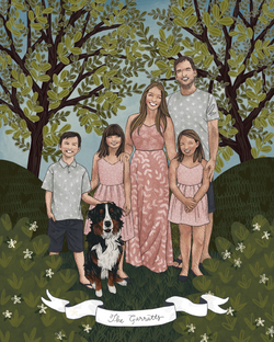 the makerie family illustration farratts