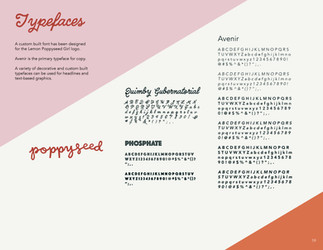 Lemon Poppyseed Girl Typefaces