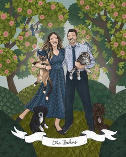 The Makerie Custom Family Illustration B