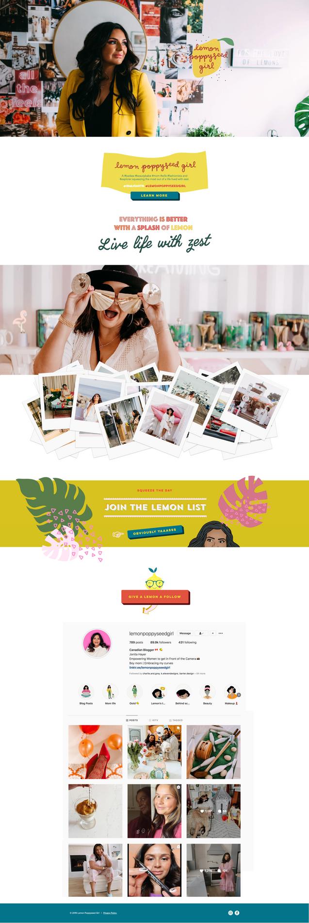 Lemon Poppyseed Girl Website