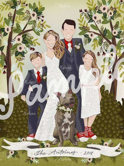 Digital Family Illustration