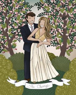 The Makerie Custom Family Illustration C