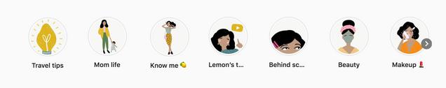Lemon Poppyseed Girl Instagram Highlight
