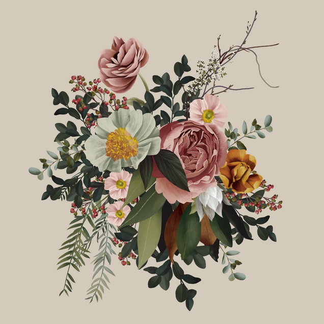 Emily Jane Inc Illustrated Floral Element