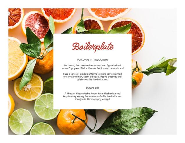 Lemon Poppyseed Girl Boilerplate