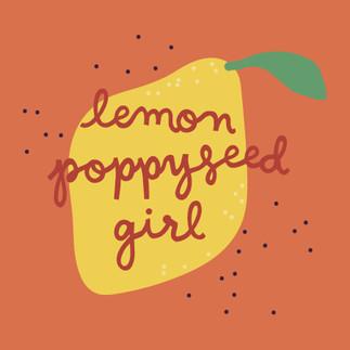 Lemon Poppyseed Girl Sticker