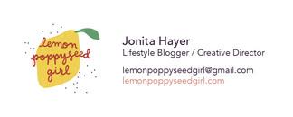 Lemon Poppyseed Girl Business Card
