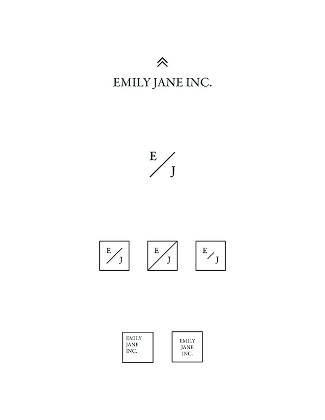 Emily Jane Inc Logo and Variations