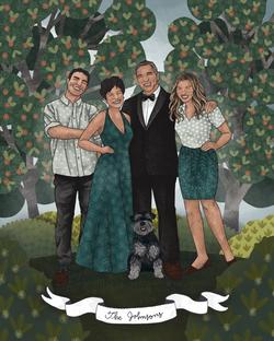 The Makerie Custom Family Illustration J