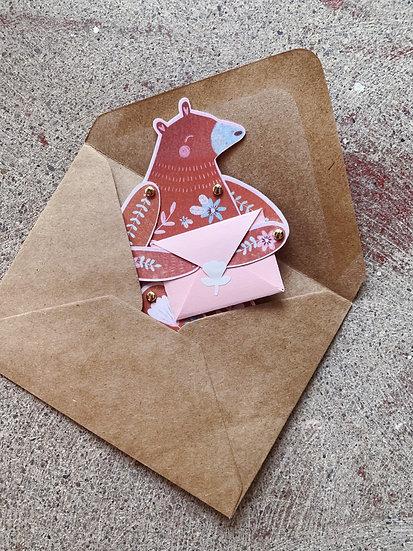 Articulated Bear Card