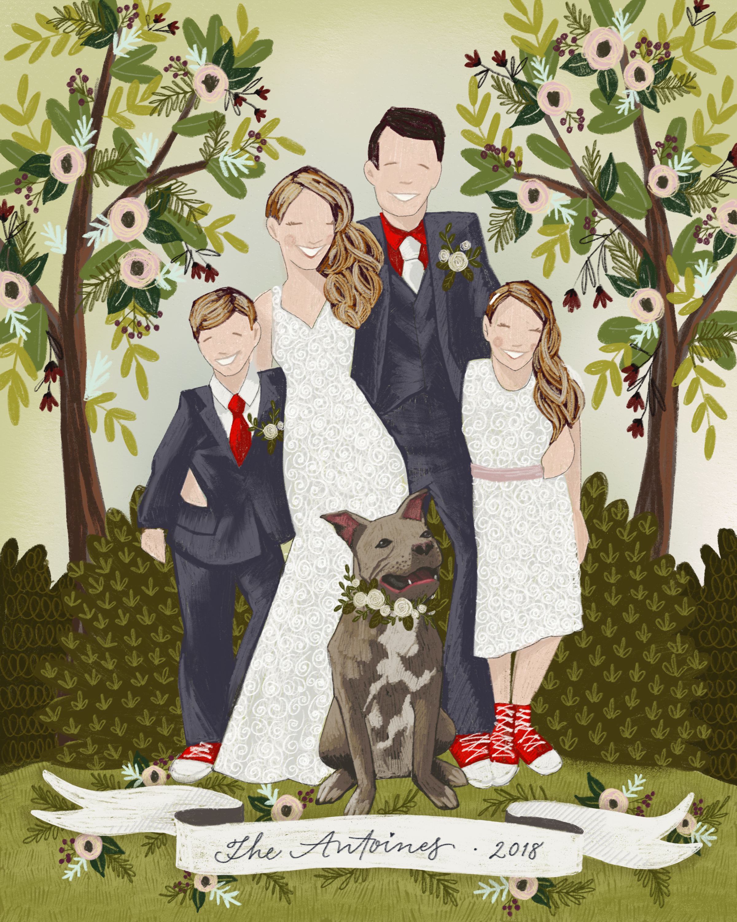 The Makerie Custom Family Illustration A