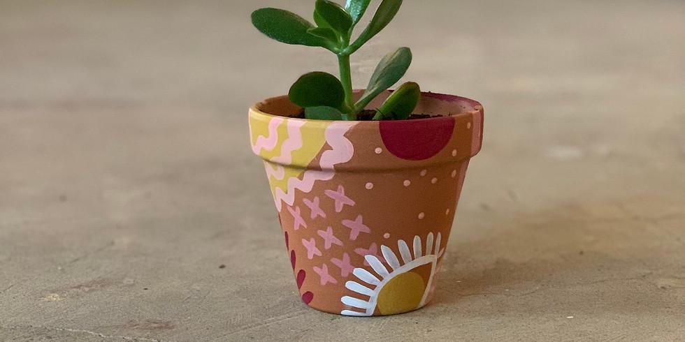 Patio Project - Painted Pots