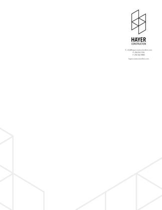 Hayer Construction Letterhead