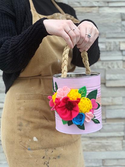 Tin Can Spring Basket