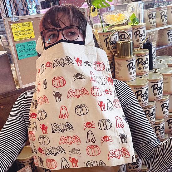 Spooky Stamped Tote Bag