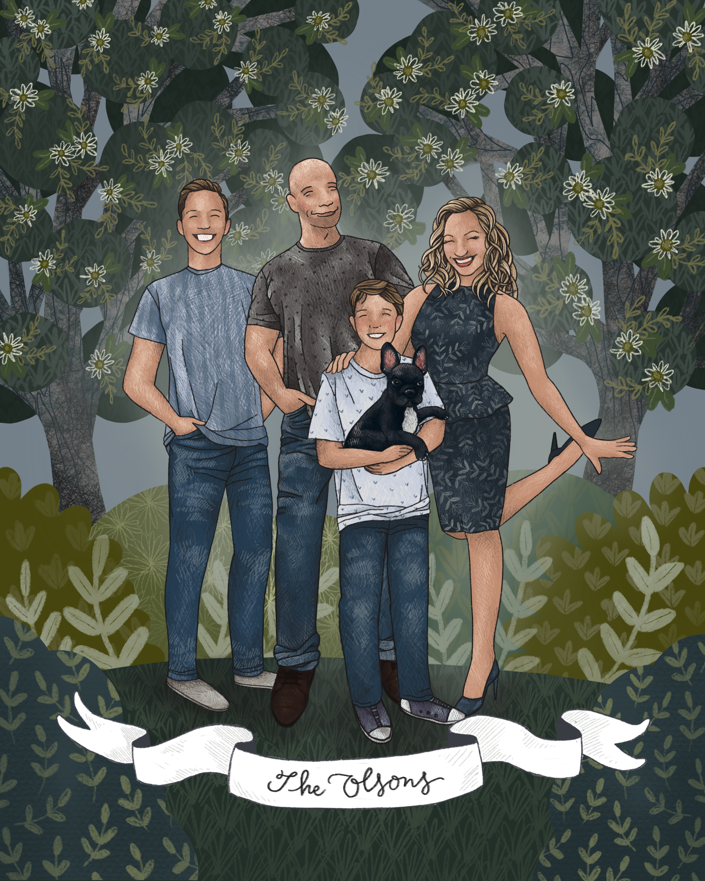 The Makerie Custom Family Illustration O