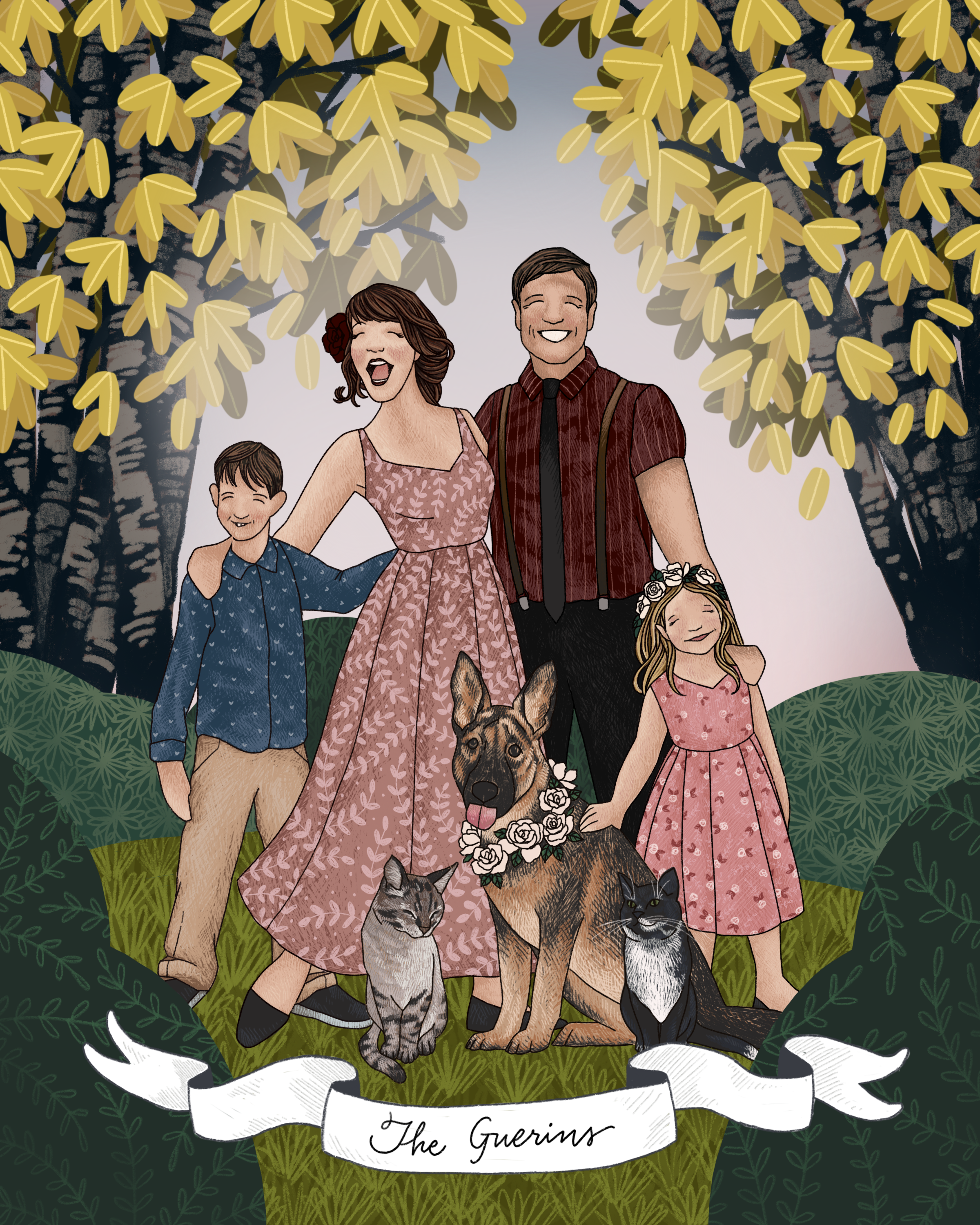 The Makerie Custom Family Illustration G