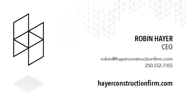Hayer Construction Business Card