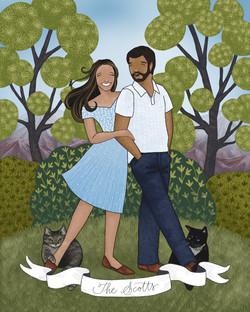 The Makerie Custom Family Illustration S