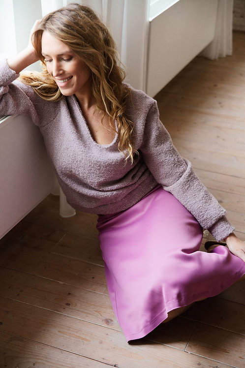 Dreamy purple wool sweater