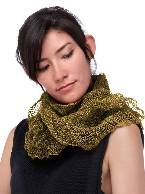 Paper Mobius Infinity Scarf  -  Mustard