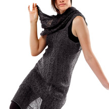 spiral dress & scarf, knit with paper/silk yarn