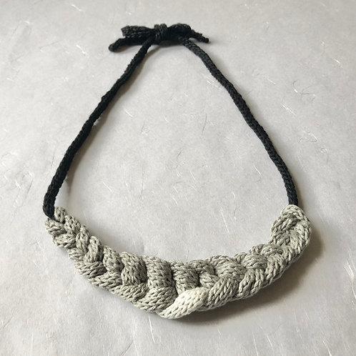 Cotton Necklace/Choker  -  Gray