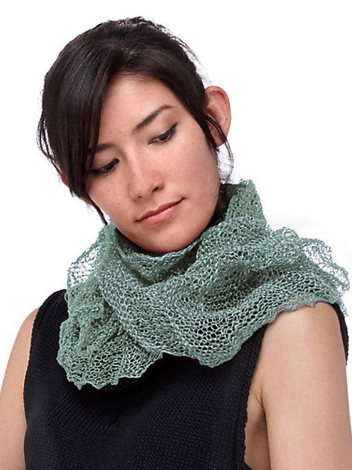 Paper Mobius Infinity Scarf  -  Blue