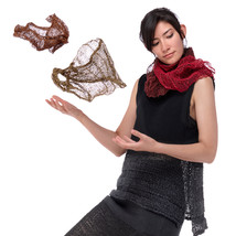 Mobius scarf, knit with paper/silk yarn