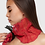 Thumbnail: Paper Gathered Wisp Scarf  -  Red/Black