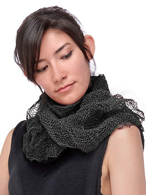 Paper Mobius Infinity Scarf  -  Charcoal