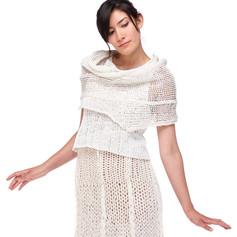spiral shawl, knit with paper yarn