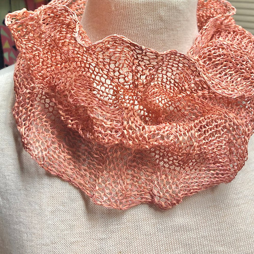 Paper Mobius Infinity Scarf  -  Pink