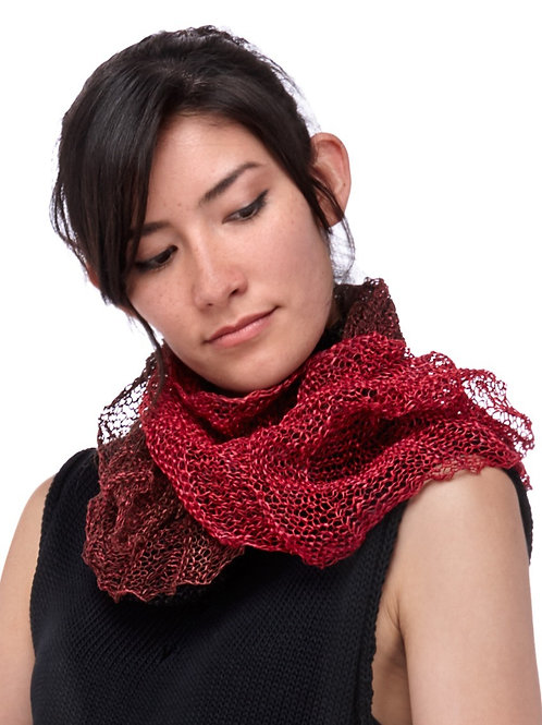 Paper Mobius Infinity Scarf  -  Red