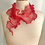Thumbnail: Silk Stainless Steel Wisp Scarf  Red