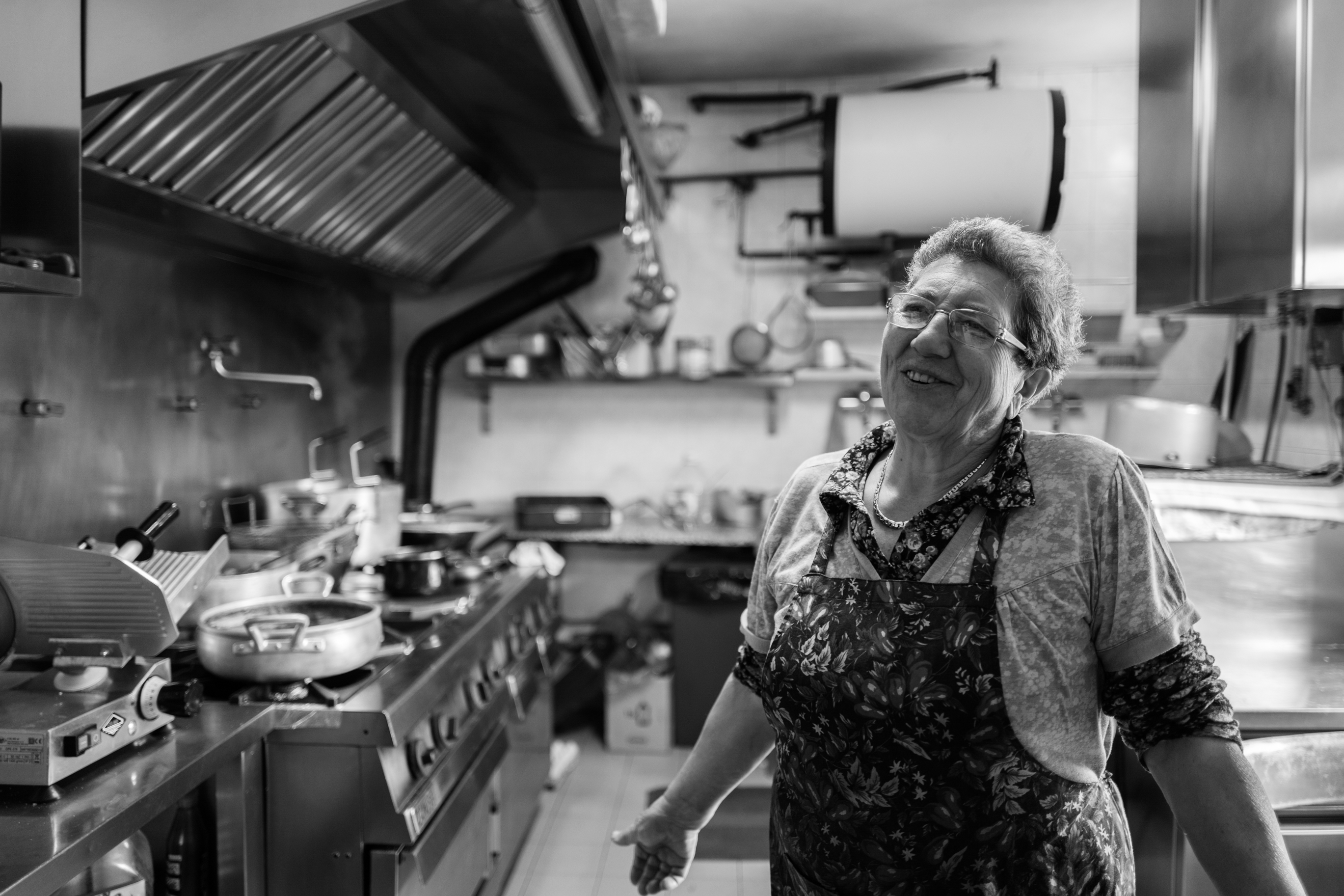 Nonna Milena in her kitchen