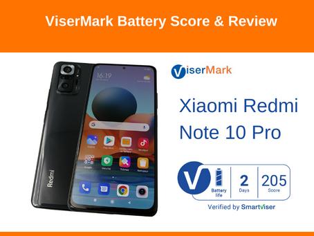 Xiaomi Redmi Note 10 Pro                 ViserMark Battery Life