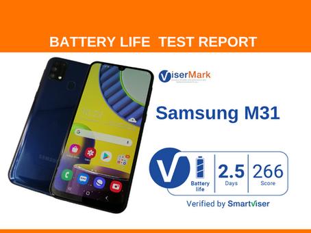 Samsung M31  ViserMark Battery Life