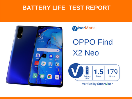 OPPO Find X2 Neo ViserMarkBattery Life