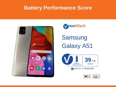 Samsung Galaxy A51 - Battery Performance Score