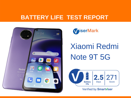 Xiaomi Redmi Note 9T 5G ViserMark Battery Life