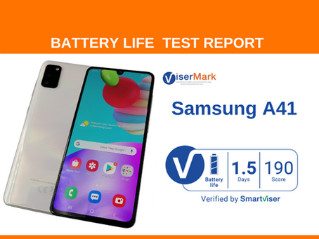 Samsung A41  ViserMark Battery Life