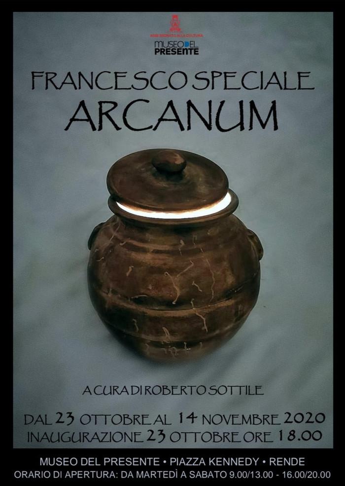 FRANCESCO SPECIALE ARCANUM A CURA DI ROBERTO SOTTILE
